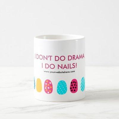Modern Girly Pink Teal Nail Salon Quote Coffee Mug