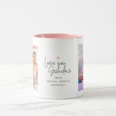 "Modern ""Love you Grandma"" 2-Photo Mug"