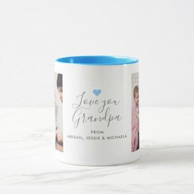 "Modern ""Love you Grandpa"" 2-Photo Mug"