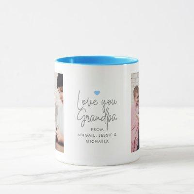 "Modern ""Love you Grandpa"" 2-Photo Mug"