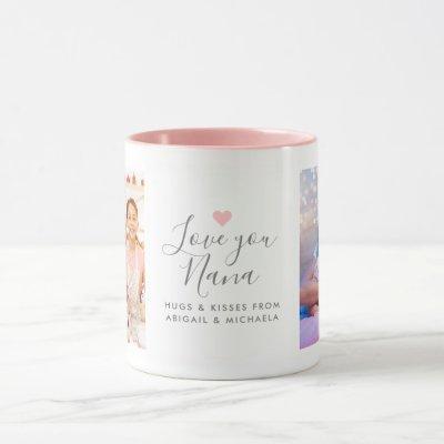 """Modern """"Love you Nana"""" 2-Photo Mug"""