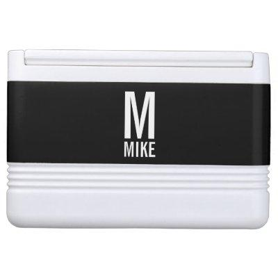 Modern Personalized Bold Monogram and Name Cooler