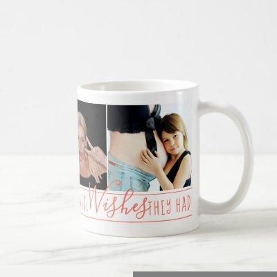 Mom Everyone Wants | Trendy Coral Quote 3 Photo Coffee Mug