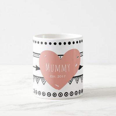 'Mommy Est.2017' Custom White Mug