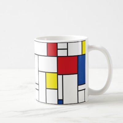 Mondrian Minimalist Geometric De Stijl Modern Art Coffee Mug