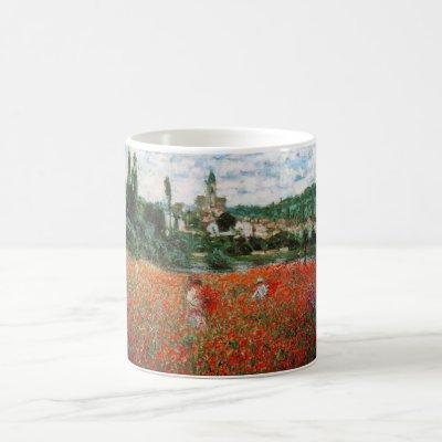 Monet Field of Red Poppies Mug