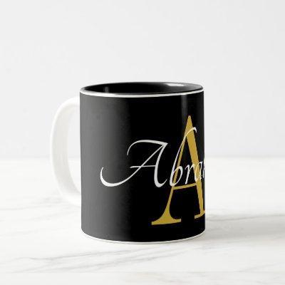 Monogram and Name Mug