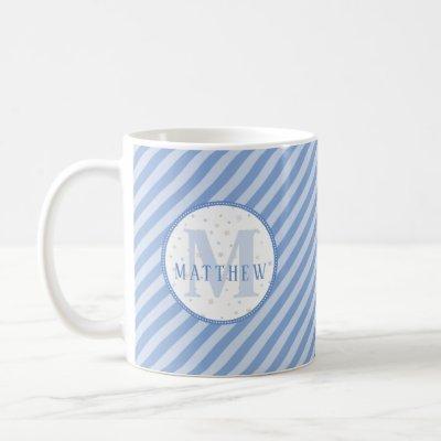 Monogram Baby Boy Blue  Coffee Mug