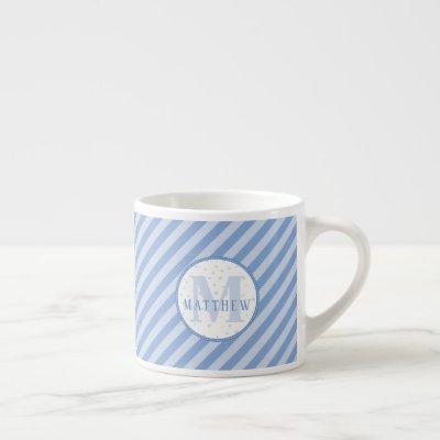 Monogram Small Mug. Baby Shower Gift Idea.  Espresso Cup
