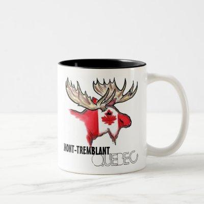 Mont Tremblant elk art flag coffee mug