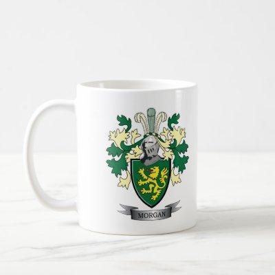 Morgan Family Crest Coat of Arms Coffee Mug