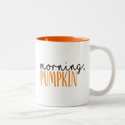 Morning Pumpkin Fall Coffee Mug