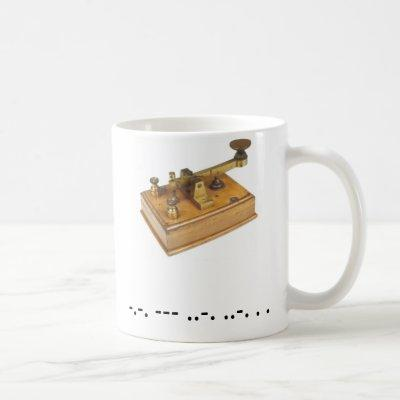 Morse Code Cofee Cup