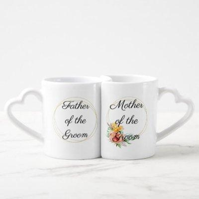 Mother of the Groom Father Matching Lover's Coffee Mug Set