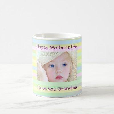 "Mother's Day ""I Love You Grandma"" Custom Photo, Coffee Mug"