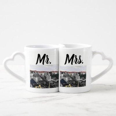 Mr and Mrs Newlyweds las Vegas Coffee Mug Set