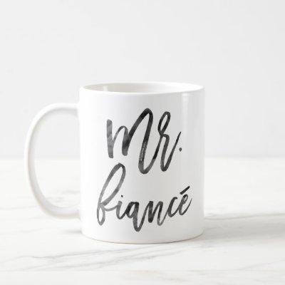 Mr. Fiancé Inky Trendy Lettering Coffee Mug