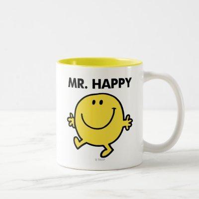 Mr. Happy | Dancing & Smiling Two-Tone Coffee Mug