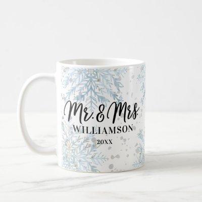 Mr & Mrs Newlyweds Christmas | Winter Wonderland Coffee Mug