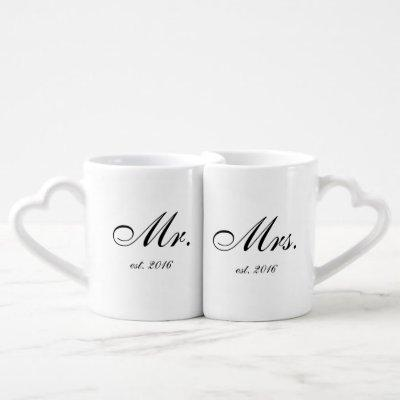 """Mr. & Mrs."" Personalized Mug Set"