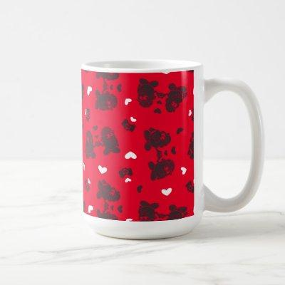 Mr. & Mrs. Potato Head Valentine's Heart Pattern Coffee Mug