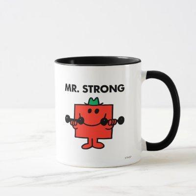 Mr. Strong   Lifting Weights Mug