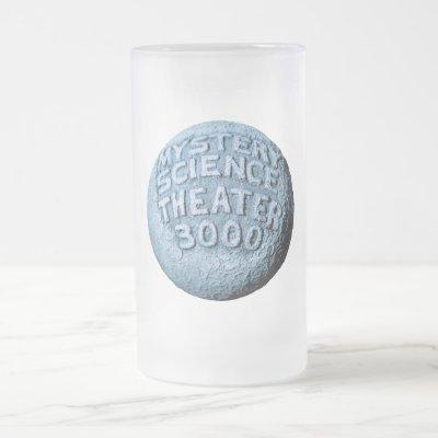 MST3K Moon Pint Glass Frosted Glass Beer Mug