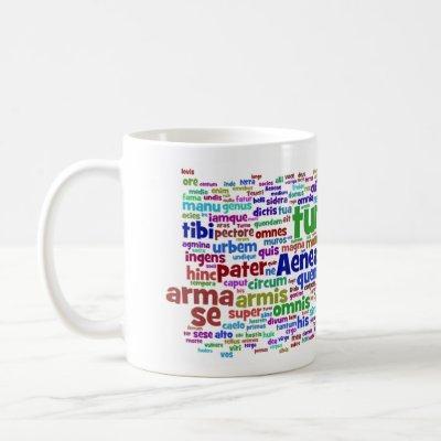mug: aeneid 300 main words coffee mug