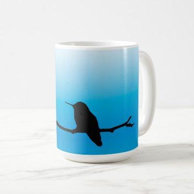 Mug - Hummingbird Silhouette on Blue