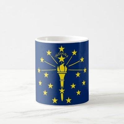 Mug with Flag of Indiana State - USA