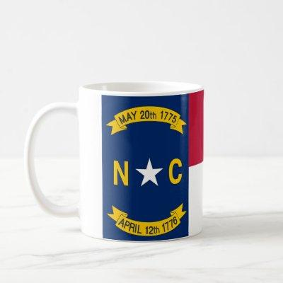Mug with Flag of  North Carolina State - USA
