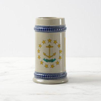 Mug with Flag of Rhode Island State -USA
