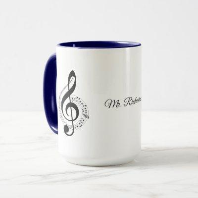Music Notes Personalized Mug