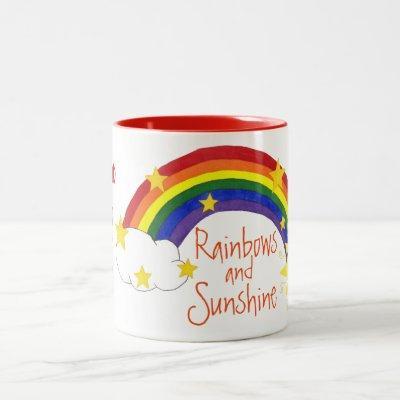 """My Cup Full of Rainbows and Sunshine"" - Mug"