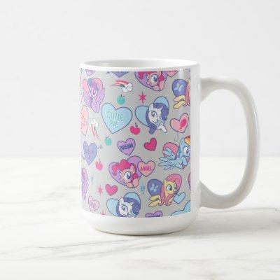 My Little Pony Candy Hearts Pattern Coffee Mug