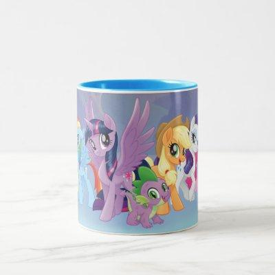My Little Pony | Mane Six in Equestria Two-Tone Coffee Mug