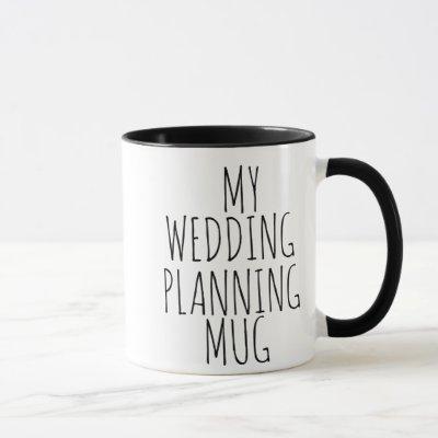 MY WEDDING PLANNING MUG BRIDE BESTSELLING