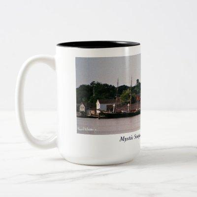 Mystic Seaport Two-Tone Coffee Mug