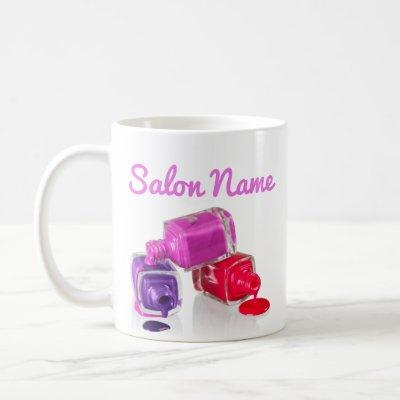 Nail Boss, Nail polish, dripping, salon decor Coffee Mug