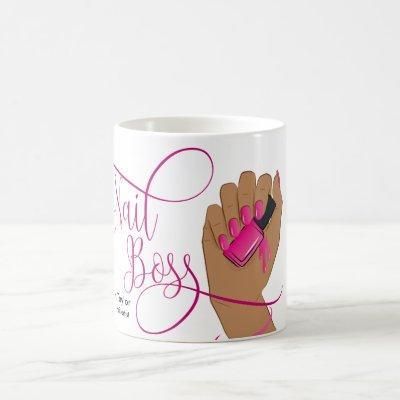 Nail Boss, nail Technician, long nails, manicure Coffee Mug