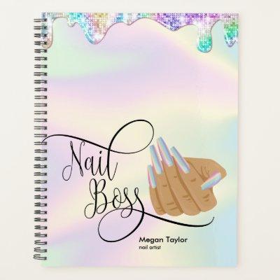 Nail Boss, nail Technician, long nails, manicure P Planner