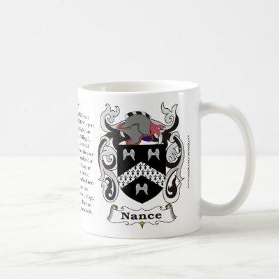 Nance, the Origin, the Meaning and the Crest on a Coffee Mug