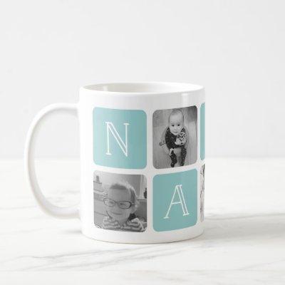 NANNY Grandmother Photo Collage Coffee Mug