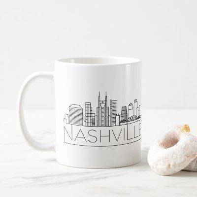 Nashville Tennessee Stylized Skyline Coffee Mug