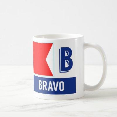 "Nautical Flag Alphabet ""B"" Bravo Coffee Mug"