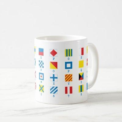 Nautical Flags Maritime Signals Alphabet Mug