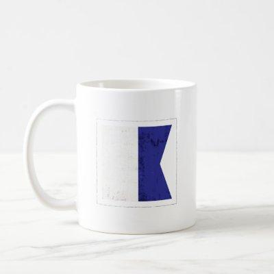 "Nautical Letter ""A"" Signal Flag Coffee Mug"