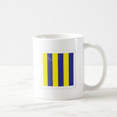 "Nautical Letter ""G"" Signal Flag Coffee Mug"