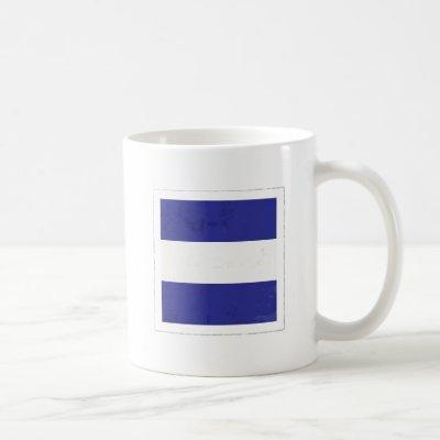 "Nautical Letter ""J"" Signal Flag Coffee Mug"