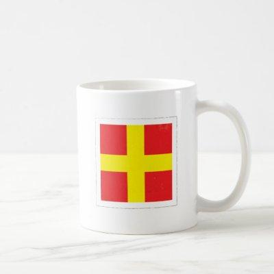 "Nautical Letter ""R"" Signal Flag Coffee Mug"